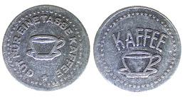 01078 GETTONE TOKEN JETON VENDING KANTINE CAFFE COFFEE GUT FUR EINE TASSE KAFFEE ALU - Allemagne
