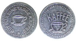 01078 GETTONE TOKEN JETON VENDING KANTINE CAFFE COFFEE GUT FUR EINE TASSE KAFFEE ALU - Duitsland