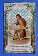 IMAGE PIEUSE  LE CHARPENTIER  IMPRIMATUR RURAEMUNDAE 1901 - Devotion Images