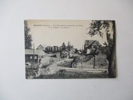 MISERY -VUE D'ENSEMBLE DU QUARTIER DE L'ECOLE ET DE L'EGLISE-LES RUINES 1922 - France