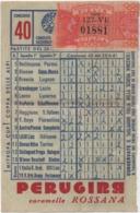 Schedina Totocalcio Concorso 40 Del 25.06.1961 - Sports