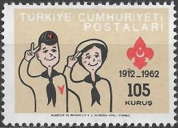 TURKEY 1962 50th Anniv Of Turkish Scout Movement - 105k. Wolf Cub And Brownie MNH - Neufs