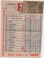 Schedina Enalotto Anni '60 - Sports