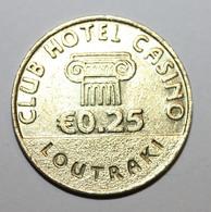 "Jeton De Casino Grec ""0.25 Euro - Club Hotel Casino - Loutraki"" Greek Casino Token - Casino"