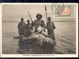 Ethiepie Ethiopie - Abyssinie - Hippopotame Lac Marguerite - 1931 - Etiopía
