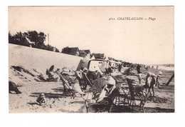 17 Chatelaillon Plage La Plage Cpa Carte Animée Carte écrite En 1921 - Châtelaillon-Plage
