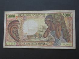 5000 CINQ  Mille Francs (sans Date)  - GABON - République GABONAISE  **** EN ACHAT IMMEDIAT **** - Gabun