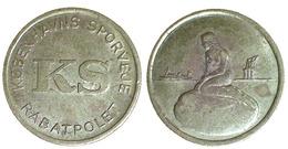 05062 GETTONE TOKEN JETON DENMARK TRANSIT TRANSPORT COPENAGHEN TRAM TOKEN MERMAID BRASS VAR.2 - Tokens & Medals