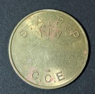 """Jeton De Nécessité De Cantine """"S.A.P.P. - Vin - C.C.E."""" Section Administrative De La Préfecture De Police (de Paris) - Monetary / Of Necessity"""