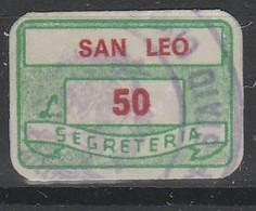S. Leo. Marca Municipale Diritti Di Segreteria L. 50 - Otros