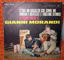 """GIANNI MORANDI C'ERA UN RAGAZZO CHE COME ME AMAVA I BEATLES E I ROLLING STONES   COVER NO VINYL 45 GIRI - 7"""" - Accessori & Bustine"""