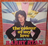 "BARRY RYAN THE COLOUR OF MY LOVE   COVER NO VINYL 45 GIRI - 7"" - Accessori & Bustine"