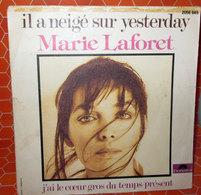 "MARIE LAFORET IL A NEIGE SUR YESTERDAY  AUCUN VINYLE  COVER NO VINYL 45 GIRI - 7"" - Accessori & Bustine"