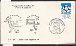 J) 1983 MEXICO, DENMARK-URUGUAY, BALL, SPECIAL CANCELLATION, II WORLD YOUTH FOOTBALL CHAMPIONSHIP, FDC - Mexico
