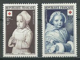 France YT N°914/915 Croix-Rouge 1951 Neuf ** - France