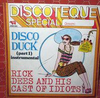"DISCO DUCK PART 1 INSTRUMENTAL  COVER NO VINYL 45 GIRI - 7"" - Accessori & Bustine"