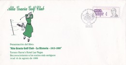 ALTA GRACIA GOLF CLUB .SOBRES ENVELOPES CORREO PRIVADO OCA RARES CIRCULEE 1999 ARGENTINE- BLEUP - Argentina