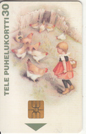 FINLAND - Little Girl & Chickens, Tirage 60000, 01/98, Used - Finland