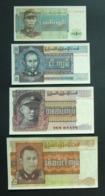 Myanmar Birmania 1, 5, 10 E 25 Kyat 1972 UNC FdS - 4x Pcs Set - Myanmar
