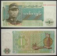Myanmar Birmania 1 Kyat 1972 UNC FdS - Myanmar