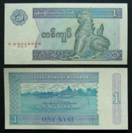 Myanmar Birmania 1 Kyat 1996 UNC FdS - Myanmar