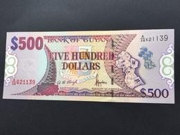 GUYANA P32 500 DOLLARS 1996 UNC - Guyana