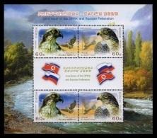 North Korea 2014 Mih. 6153/54 Fauna. Birds (M/S) (joint Issue North Korea-Russia) MNH ** - Korea, North