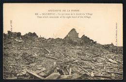 MAUREPAS - Offensive De La Somme -Ce Qui Reste De La Droite Du Village-   Recto Verso -Paypal Sans Frais - France