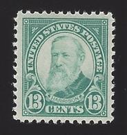 US #622 1925-26 Green Unwmk Perf 11 MNH VF Scv $22 - Vereinigte Staaten