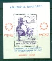 Rwanda 1967 Expo Montreal, African Dancers MS MUH - Rwanda