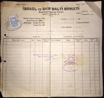 Turkey Jewish İsrael Ve Sam Salti Sirketi Invoice 1945 - Invoices & Commercial Documents