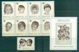Rwanda 1979 IYC Intl. Year Of The Child, Blk + MS MUH - Rwanda