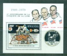 Rwanda 1980 Apollo 11 Space, Moon Exploration MS MUH - Rwanda