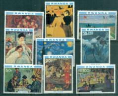 Rwanda 1980 Paintings, Impressionists MUH - Rwanda