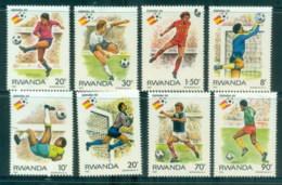 Rwanda 1986 World Cup Soccer, Mexico MUH - Rwanda