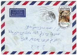 TNS14015 Tunisie Tunisia 2002 Air Mail Cover Franking Ennejma Ezzahra Palace - Addressed Egypt - Tunisia