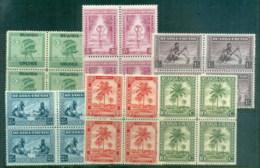 Ruanda-Urundi 1927 On Pictorials Asst Blocks MUH - Rwanda