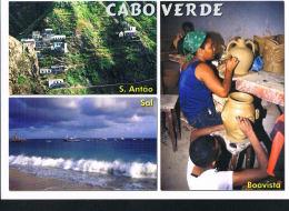 CABOVERDE - CAP-VERT - Boavista- S.Antao- Sal- Multivues - Recto Verso -Timbre -Paypal Free - Cap Vert