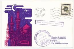 IRAN / BELGIQUE - 2 Enveloppes SABENA - 1ere Liaison Aérienne - BAGDAD - BRUXELLES - 8.7.1976 Et Retour - Irán