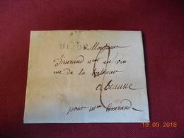 Lettre De 1809 En Provenance De Dijon A Destination De Beaune Pour Un Negociant En Vin - 1801-1848: Voorlopers XIX