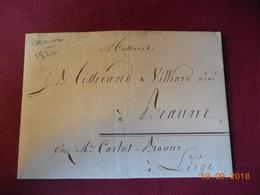 Lettre De 1820 En Provenance De Beaune A Destination De Liege - 1801-1848: Voorlopers XIX