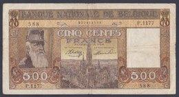 Banconota Da 500 Franchi - [ 2] 1831-... : Royaume De Belgique