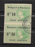 Colonie  Colis Postaux De Madagascar De 1919/22  N°5 Oblitéré En Paire - Madagascar (1889-1960)