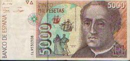 ESPAGNE : 5000 Pesetas (12/10/1992) - [ 4] 1975-… : Juan Carlos I