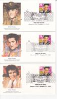 Série 5 FDC - USA - ELVIS PRESLEY - 1993 - Emballé Dans Enveloppe Originale - Timbre N°2130 - Ersttagsbelege (FDC)