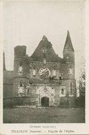00044 - SOMME - TILLOLOY - Façade De L'Eglise - Guerre 1914 - 1915 - France