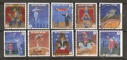 Belgique 2009 - Cirque - Série Complète De Carnet - Petit Lot De 10 ° - 10 Timbres Différents - Belgique