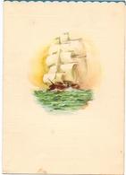 Menu - Schip Cruise Buque - Compania Trasmediterranea Madrid - En La Mar 4-9- 1960 - Menus