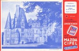 Buvard Vloeipapier - Piles Mazda Cipel - Calvados Chateau Fontaine Henry - Piles