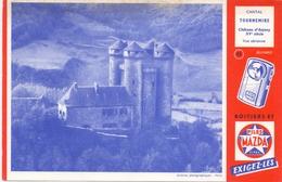 Buvard Vloeipapier - Piles Mazda Cipel - Cantal Chateau Tournemire - Piles